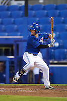 GCL Blue Jays designated hitter Ryan Gold (6) at bat during the second game of a doubleheader against the GCL Phillies on August 15, 2016 at Florida Auto Exchange Stadium in Dunedin, Florida.  GCL Phillies defeated the GCL Blue Jays 4-0.  (Mike Janes/Four Seam Images)