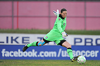 Sky Blue FC goalkeeper Jenni Branam (23). The Philadelphia Independence and Sky Blue FC played to a 2-2 tie during a Women's Professional Soccer (WPS) match at Yurcak Field in Piscataway, NJ, on April 10, 2011.