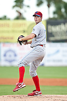 Austin Hyatt of the Clearwater Threshers during the game against the Daytona Cubs July 5 2010 at Jackie Robinson Ballpark in Daytona Beach, Florida. Photo By Scott Jontes/Four Seam Images