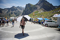 ready for the race to come over the Col du Tourmalet (HC/2115m/17km/7.3%)<br /> <br /> st11: Pau - Cauterets (188km)<br /> 2015 Tour de France