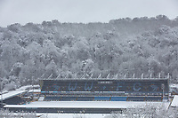 Wycombe Wanderers football Stadium amongst the snowfall<br /> Weather - the Snowfall in Wycombe at Adams Park, High Wycombe, England on 10 December 2017. Photo by Andy Rowland.