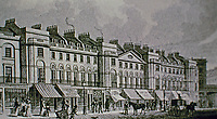 171-195 Regent Street, London. Part of East Side. Antique print.