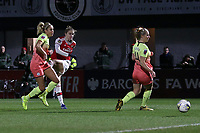 Vivianne Miedema of Arsenal scores the first goal for her team during Arsenal Women vs Manchester City Women, FA Women's Continental League Cup Football at Meadow Park on 29th January 2020
