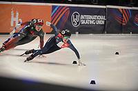 SPEEDSKATING: DORDRECHT: 06-03-2021, ISU World Short Track Speedskating Championships, SF 3000m Relay, (CAN), (FRA), ©photo Martin de Jong