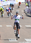 Irish Champion Sam Bennett (IRL) Deceuninck-Quick Step wins Stage 4 of the Vuelta a Burgos 2020, running 163km from Bodegas Nabal to Roa de Duero, Spain. 31st July 2020. <br /> Picture: Colin Flockton | Cyclefile<br /> <br /> All photos usage must carry mandatory copyright credit (© Cyclefile | Colin Flockton)
