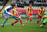 Partick Thistle v St Johnstone…28.10.17…  Firhill…  SPFL<br />Murray Davidson's shot is aved by Tomas Cerny<br />Picture by Graeme Hart. <br />Copyright Perthshire Picture Agency<br />Tel: 01738 623350  Mobile: 07990 594431