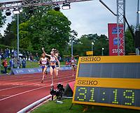 5th June 2021; Birmingham University Athletics Track, Birmingham, Midlands, England; European 10000 Metre Finals, British Olympic Trials 10000 Metre; Eilish McColgan takes the win in 31:19