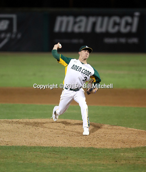 Holden Powell plays in the 2016 Area Code Games on August 6-10, 2016 at Blair Field in Long Beach, California (Bill Mitchell)