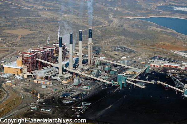 aerial photograph Jim Bridger coal power plant Rock Springs, Wyoming