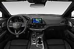 Stock photo of straight dashboard view of 2020 Cadillac CT4-V V-Series 4 Door Sedan Dashboard
