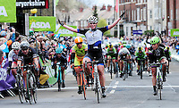 Picture by Simon Wilkinson/SWpix.com - 30/04/2016 - Cycling - 2016 Asda Women's Tour de Yorkshire: Otley to Doncaster - Yorkshire, England - Kirsten Wild wins in Doncaster