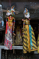 Bali, Indonesia.   Puppet Dolls for Sale in a Shop.  Tenganan Village.
