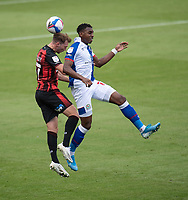 Blackburn Rovers' Amari'i Bell (right) battles with Bournemouth's Jack Stacey (left) <br /> <br /> Photographer David Horton/CameraSport <br /> <br /> The EFL Sky Bet Championship - Bournemouth v Blackburn Rovers - Saturday September 12th 2020 - Vitality Stadium - Bournemouth<br /> <br /> World Copyright © 2020 CameraSport. All rights reserved. 43 Linden Ave. Countesthorpe. Leicester. England. LE8 5PG - Tel: +44 (0) 116 277 4147 - admin@camerasport.com - www.camerasport.com