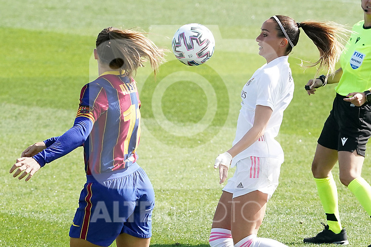 First official match and first classic in the history of women's Real Madrid.<br /> Real Madrid's Kosovare Asllani (r) and FC Barcelona's Alexia Putellas during Spanish Female League match. October 4,2020. (ALTERPHOTOS/Acero)