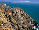 Coast Trail above Tennesse Cove, Golden Gate National Recreation Area,Marin County, California