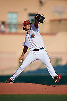 Florida Fire Frogs starting pitcher Ian Anderson (30) delivers a pitch during a game against the Palm Beach Cardinals on May 1, 2018 at Osceola County Stadium in Kissimmee, Florida.  Florida defeated Palm Beach 3-2.  (Mike Janes/Four Seam Images)