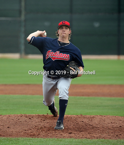 Luke Eubank - Cleveland Indians 2019 spring training (Bill Mitchell)