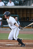 Charleston Riverdogs first baseman Luke Murton #34 at bat during a game vs. the Rome Braves at Joseph P. Riley Jr. Ballpark in Charleston, South Carolina on June 6, 2010. Charleston defeated Rome by the score of 4-2.  Photo By Robert Gurganus/Four Seam Images