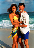 Laughing couple on beach