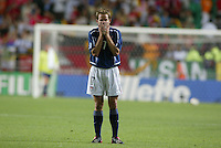 Eddie Lewis. The USA lost to Germany 1-0 in the Quarterfinals of the FIFA World Cup 2002 in South Korea on June 21, 2002.