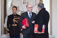 BERNARD CAZENEUVE PREMIER MINISTRE APR»S LE CONSEIL DES MINISTRES DU 11 JANVIER 2017 A PARIS.