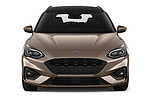 Car photography straight front view of a 2019 Ford Focus-Clipper  ST-Line 5 Door Wagon