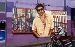 Bruce Springsteen billboard on the side of the Whisky a Go Go on the Sunset Strip in Los Angeles, CA circa 1992