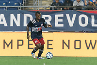 FOXBOROUGH, MA - AUGUST 5: Michel #48 of New England Revolution II passes the ball during a game between North Carolina FC and New England Revolution II at Gillette Stadium on August 5, 2021 in Foxborough, Massachusetts.