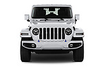 Car photography straight front view of a 2021 JEEP Wrangler-Unlimited High-Altitude-4XE 5 Door SUV Front View