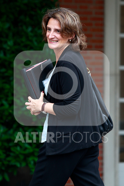 Teresa Ribera, Minister of Ecological Transition, arrives at the first Council of Ministers of the new Government of Spain, chaired by Pedro Sanchez. June 8,2018. (ALTERPHOTOS/Acero)