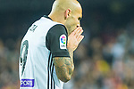 Simone Zaza of Valencia CF is seen during the La Liga 2017-18 match between Valencia CF and FC Barcelona at Estadio de Mestalla on November 26 2017 in Valencia, Spain. Photo by Maria Jose Segovia Carmona / Power Sport Images