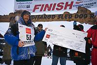 Robert Sorlie Receives Award for Winning Iditarod 2005 @ Finish Line