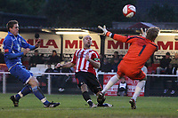 Elliot Styles goes close to a goal for Hornchurch - AFC Hornchurch vs Tonbridge Angels - Ryman League Premier Division Football at The Stadium - 13/11/10 - MANDATORY CREDIT: Gavin Ellis/TGSPHOTO - Self billing applies where appropriate - Tel: 0845 094 6026