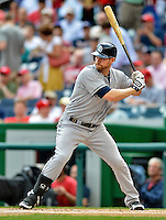 15 May 2012: San Diego Padres third baseman Chase Headley in action against the Washington Nationals at Nationals Park in Washington, DC. The Padres defeated the Nationals 6-1 to split their 2-game series. Mandatory Credit: Ed Wolfstein Photo