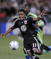 DC United forward Luciano Emilio (11).  The Seattle Sounders FC defeated DC United 2-1at RFK Stadium, Saturday September 12 , 2009.