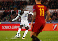Chelsea s Tiemoue Bakayoko kicks the ball during the Champions League Group C soccer match between Roma and Chelsea at Rome's Olympic stadium, October 31, 2017.<br /> UPDATE IMAGES PRESS/Riccardo De Luca