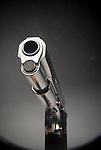 View down barrel of handgun