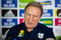 Neil Warnock Manager of Cardiff City speaks as Cardiff City FC Hold First Press Conference Since The Disappearance Of Emiliano Sala at The Vale Resort in Cardiff, Wales, UK. Monday 28 January 2019