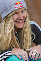 Portrait of Shauna Coxsey in Rocklands, South Africa<br /> Shauna Coxsey (born 27 January 1993) is an English professional rock climber, she came second in the IFSC Bouldering World Cup in 2014.