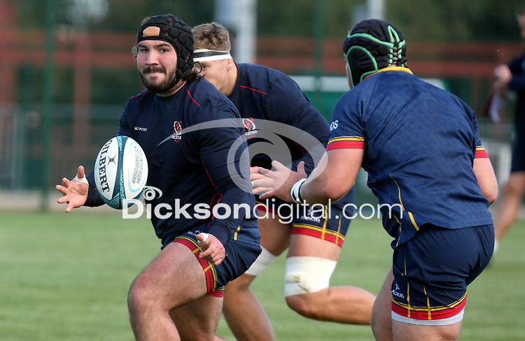 Tuesday 5th October 2021<br /> <br /> Tom O'Toole during Ulster Rugby training at Newforge Country Club, Belfast, Northern Ireland. Photo by John Dickson/Dicksondigital