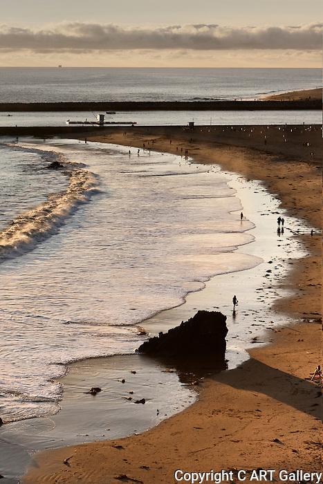 Waves at Dusk, Corona del Mar, CA.