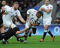 Kyle Sinckler of England breaks through during the Quilter International match between England and New Zealand at Twickenham Stadium on Saturday 10th November 2018 (Photo by Rob Munro/Stewart Communications)
