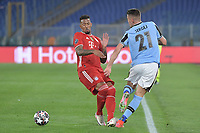 Sergej Milinkovic Savic of SS Lazio and Jerome Boateng of FC Bayern during the Champions League round of 16 football match between SS Lazio and Bayern Munchen at stadio Olimpico in Rome (Italy), February, 23th, 2021. Photo Andrea Staccioli / Insidefoto