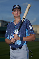 West Michigan Whitecaps outfielder Parker Meadows (18) poses for a photo prior to the game against the Fort Wayne TinCaps at Parkview Field on August 5, 2019 in Fort Wayne, Indiana. The TinCaps defeated the Whitecaps 9-3. (Brian Westerholt/Four Seam Images)