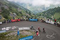 up Luz Ardiden<br /> <br /> Stage 18 from Pau to Luz Ardiden (130km)<br /> 108th Tour de France 2021 (2.UWT)<br /> <br /> ©kramon