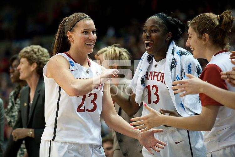 SPOKANE, WA - MARCH 28, 2011: Jeanette Pohlen, Stanford Women's Basketball vs Gonzaga, NCAA West Regional Finals at the Spokane Arena on March 28, 2011.