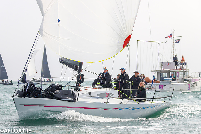 First in Class 2 - Nigel Biggs' Checkmate XVIII on her way to overall victory of the ICRA National Championships on Dublin Bay