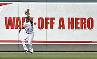 29 September 2012: Minnesota Twins outfielder Ben Revere in action against the Detroit Tigers at Target Field in Minneapolis, MN. The Tigers defeated the Twins 6-4 in the second game of their 3-game series. Mandatory Credit: Ed Wolfstein Photo
