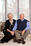 Central Illinois couple in their home before a 50th anniversary celebration with family and friends.
