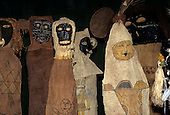 Brasilia, Brazil. Tukano ritual masks and artefacts.